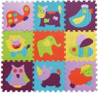 BabyGreat Covoras Puzzle Animalute Vesele 92x92 cm