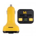 Modulator FM NGS Bluetooth MicroSD 2xUSB microfon galben