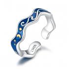 Inel din argint Starry Blue Night