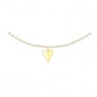 Colier din argint Golden Heart