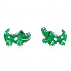 Cercei din argint Little Green Crocodile