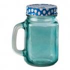 Halba tip borcan albastra plus capac perforat 400 ml