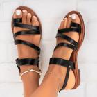 Sandale fara Toc Piele Ecologica Negre Jenny X5448