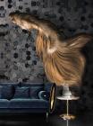 Fototapet contemporan Golden Silence personalizat Idea Murale