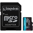 Kingston 256GB microSDXC Canvas Go Plus 170R A2 U3 V30 Card ADP EAN 74