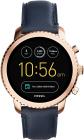 Ceas Barbati Fossil Q Gen 3 Smartwatch Explorist Navy Leather FTW4002