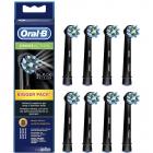 Set 8 rezerve periuta electrica Oral B EB50BK 8 Cross Action Black edi