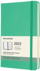 Agenda 2022 12 Month Weekly Planner Large Hard Cover Ice Green