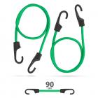 Set de cordeline de fixare profesionale Verde 90 cm x 8 mm 2 buc pache