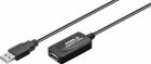 Cablu prelungire activ USB 2 0 A tata mama 10m Goobay