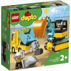 DUPLO 10931 Truck Tracked Excavator 20 piese
