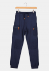 Pantaloni sport cu intarituri la nivelul genunchilor