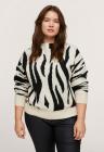 Pulover cu imprimeu zebra Comansi