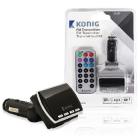 Modulator FM negru cu telecomanda Konig