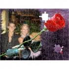 Puzzle Red Valentine Rose