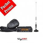 Pachet statie radio auto CB Albrecht AE 6110 Antena CB PNI S9 lungime