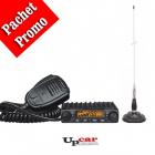 Pachet statie radio auto CB Albrecht AE 6110 Antena CB PNI ML100 lungi