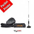 Pachet statie radio auto CB Albrecht AE 6110 Antena CB PNI S75 lungime