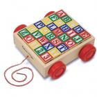 Carucior cu cuburi ABC