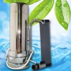 Filtru de apa pe tejghea cromat din otel inoxidabil si robinet metalic
