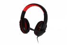 Casti cu microfon SPACER SPK 203 black red
