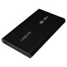 RACK EXTERN 2 5 USB2 0 SATA Alu black LOGILINK UA0041B
