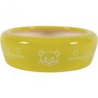 Castron galben din ceramica pentru rozatoare Zolux 150 ml