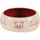 Castron rosu din ceramica pentru rozatoare Zolux 200 ml