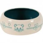 Castron albastru din ceramica pentru rozatoare Zolux 200 ml