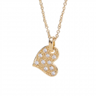 Colier placat cu aur pandantiv inima