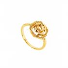 Inel placat cu aur model trandafir