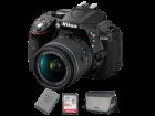 D5300 kit AF P 18 55mm VR EN EL14a Card 64GB Geanta