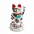 Pisica norocoasa Maneki Neko argintie