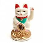 Pisica norocoasa Maneki Neko alba