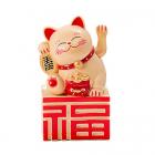 Pisica norocoasa cu ideograma norocului