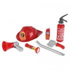 Set Accesorii Pompier cu Casca de protectie Stingator si Telefon mobil