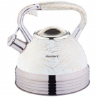 Ceainic din inox cu fluier Klausberg capacitate 2 7 litri inductie alb
