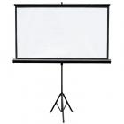 Ecran de proiectie cu suport 159 x 90 cm format 16 9 alb mat