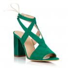 Sandale dama, Parisien Chic, verde, marimea 37