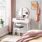 SEA220 Set Masa alba toaleta cosmetica machiaj oglinda masuta vanity s