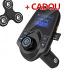 PROMO MODULATOR FM AUTO HANDS FREE T11 CU BLUETOOTH CITIRE USB SI MICR