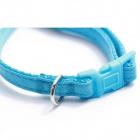 Zgarda albastra din piele ecologica pentru caini Hamate 20 31 cm