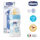 Biberon Chicco WellBeing PP boy 150ml t c flux normal 0 luni 0 BPA