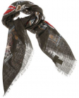 Foulard With Medal Print
