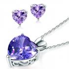 Set bijuterii din argint Lavanda Heart