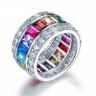 Inel din argint Culorile Curcubeului
