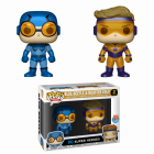 Funko POP DC Super Heroes 2 Pack Blue Beetle and Booster Gold Metallic