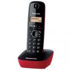 Telefon DECT cu CallerID negru rosu