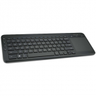 Tastatura All in One Media wireless cu trackpad neagra