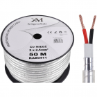 Accesoriu cablu audio profesional KAB0411 cupru 2x2 5mm rola 50 metri